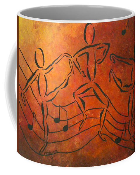 Pamela Allegretto Franz Coffee Mug featuring the painting Dance Fever by Pamela Allegretto