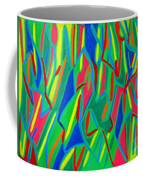 Eunice Broderick Coffee Mug featuring the painting Dance Of Colors by Eunice Broderick