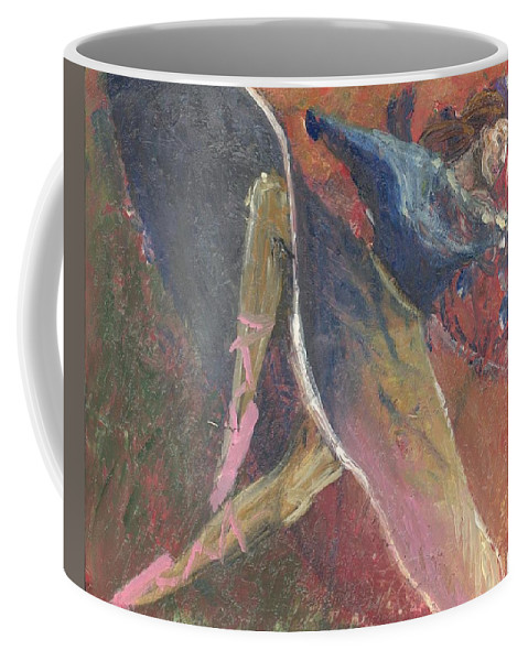 Ballerina Coffee Mug featuring the painting 'dance Over Me' by Whitney Tomlin