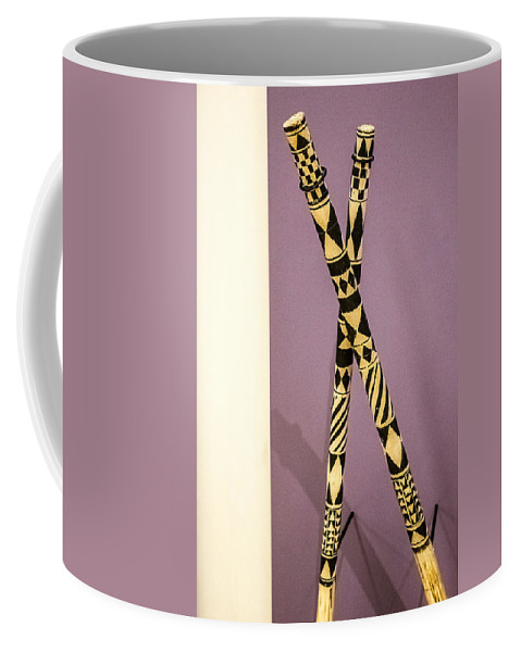 Decorated Sticks Coffee Mug featuring the digital art Dance Sticks by Georgianne Giese