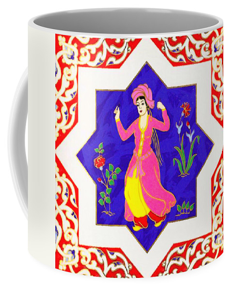 Dancing Dancer - Pastel Coffee Mug featuring the painting Dancing Dancer Pastel by MotionAge Designs