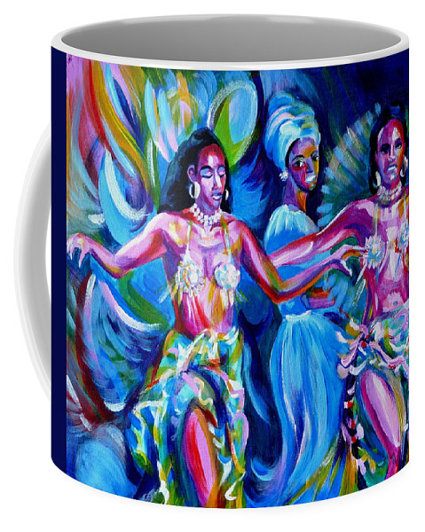 Music Coffee Mug featuring the painting Dancing Panama by Anna Duyunova