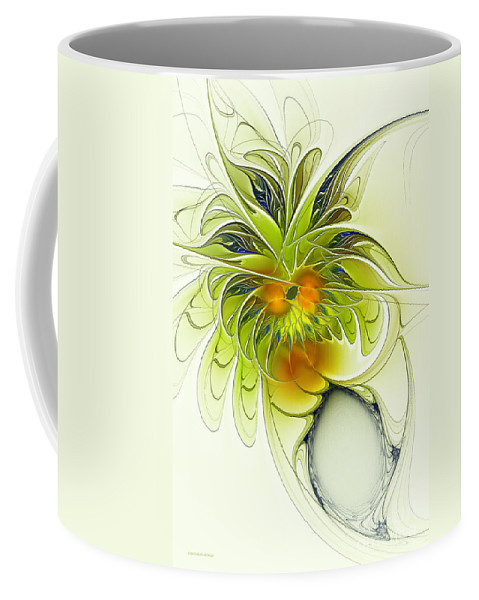 Fractal Coffee Mug featuring the digital art Dancing Petals by Deborah Benoit