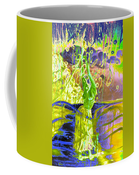 Genio Coffee Mug featuring the mixed media Dancing The Spirit Of Springtime by Genio GgXpress