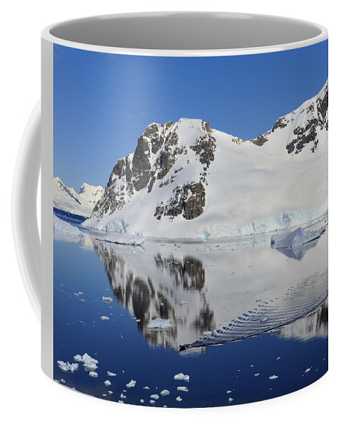 Antarctica Coffee Mug featuring the photograph Danco Island by Tony Beck