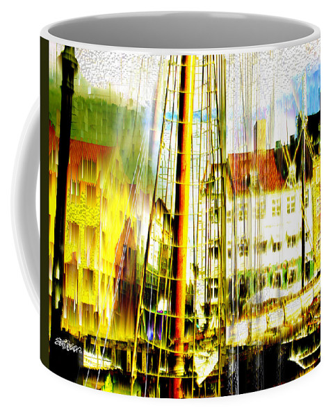 Cityscape Coffee Mug featuring the photograph Danish Harbor by Seth Weaver