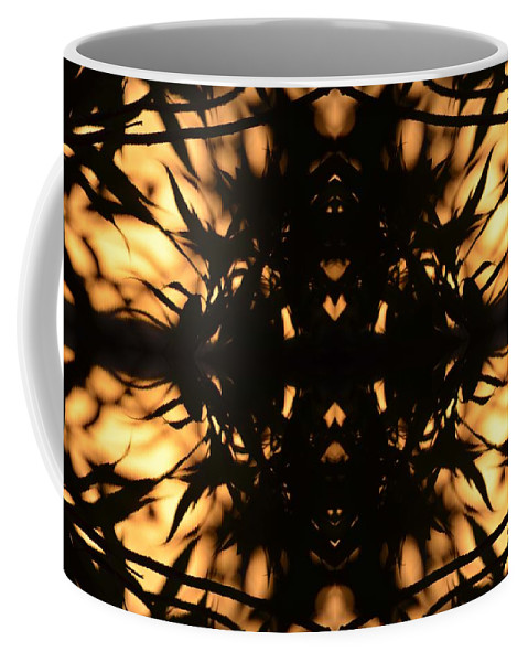 Nature Silhouetted Coffee Mug featuring the photograph Dark Flame Of Nature by Deprise Brescia