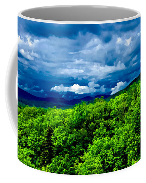 Crawford Notch Coffee Mug featuring the photograph Dark Over Light by Greg Fortier