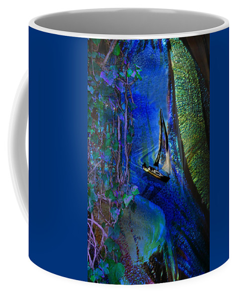 Dark River Coffee Mug featuring the digital art Dark River by Lisa Yount