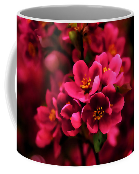 Georgia Mizuleva Coffee Mug featuring the digital art Dark Spring Dreams by Georgia Mizuleva
