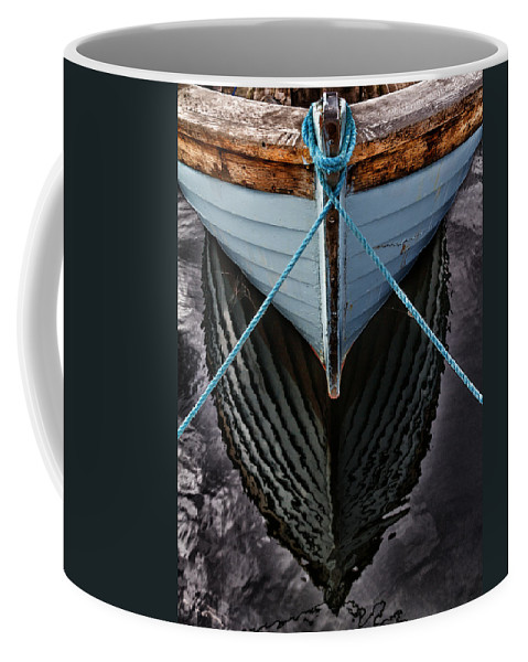 Bay Coffee Mug featuring the photograph Dark waters by Stelios Kleanthous