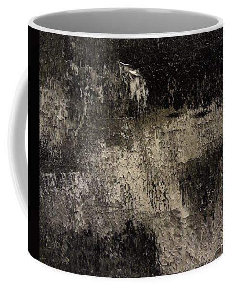 Abstract Coffee Mug featuring the painting Darkness Happens by Holton Powell