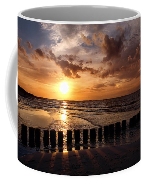 Ostsee Coffee Mug featuring the pyrography Darss by Steffen Gierok
