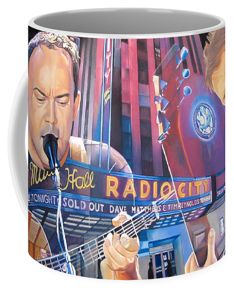 Dave Matthews Coffee Mug featuring the drawing Dave Matthews And Tim Reynolds At Radio City by Joshua Morton