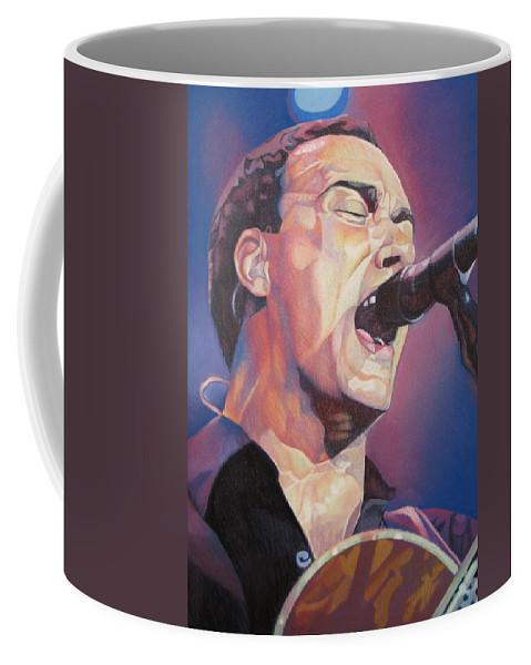 Dave Matthews Coffee Mug featuring the drawing Dave Matthews Colorful Full Band Series by Joshua Morton