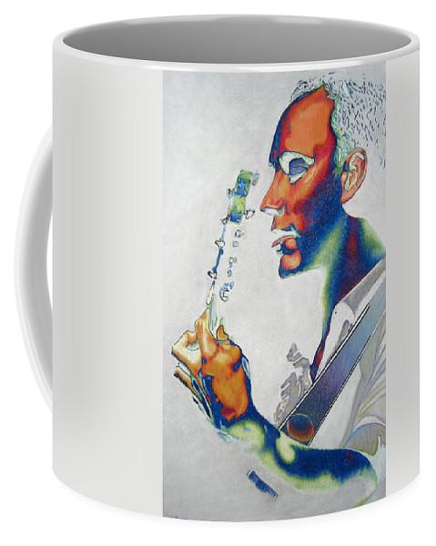 Dave Matthews Coffee Mug featuring the drawing Dave Matthews by Joshua Morton