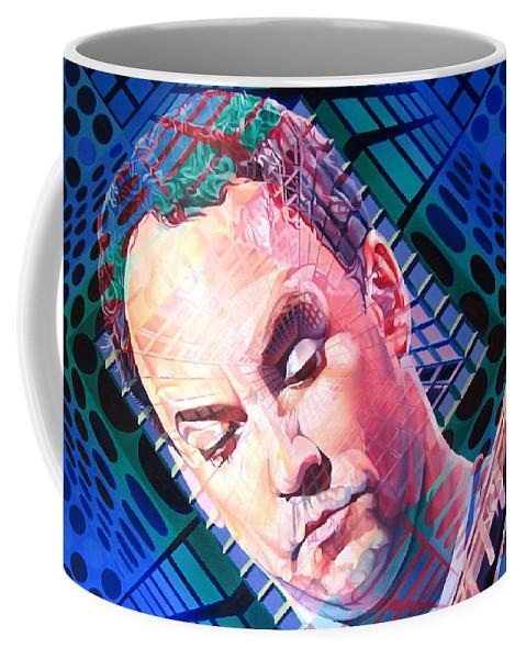 Dave Matthews Coffee Mug featuring the painting Dave Matthews Open Up My Head by Joshua Morton