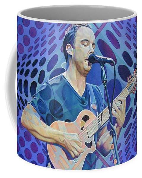 Dave Matthews Coffee Mug featuring the drawing Dave Matthews Pop-op Series by Joshua Morton