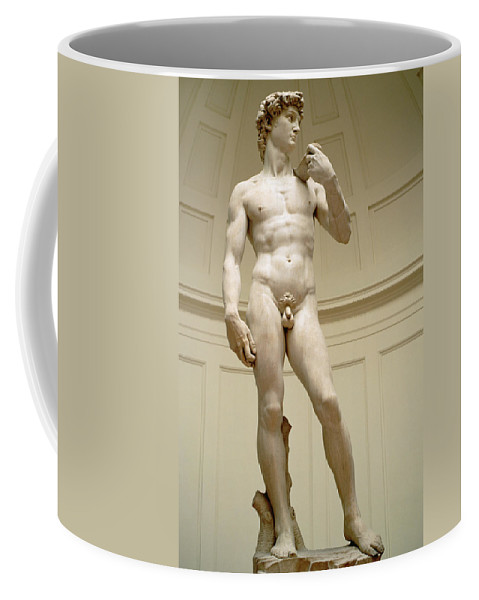 David Coffee Mug featuring the photograph David by Michelangelo Buonarroti