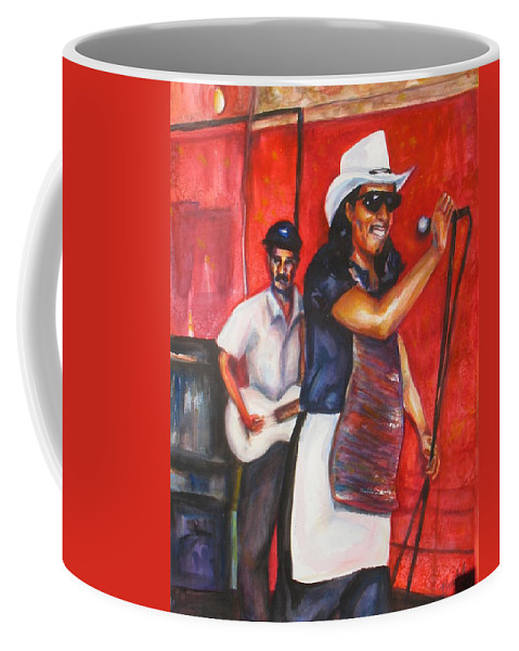 Watercolor Coffee Mug featuring the painting David And Buck by Beverly Boulet