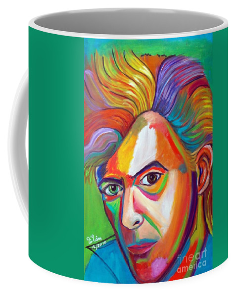 David Bowie Coffee Mug featuring the painting David Bowie by To-Tam Gerwe