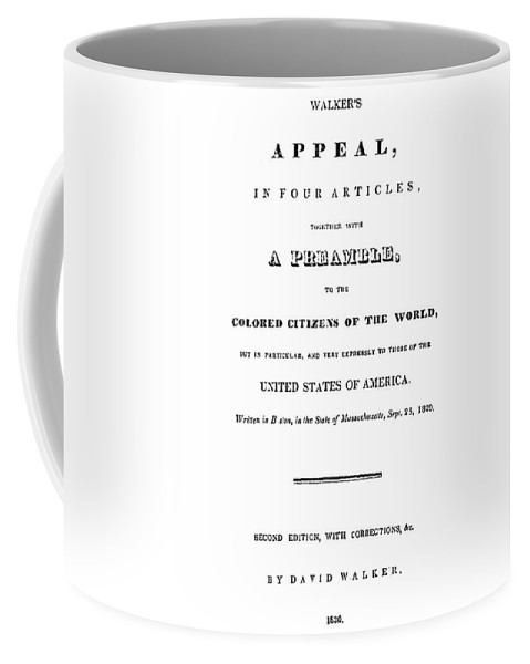1830 Coffee Mug featuring the painting David Walker (1785-1830) by Granger