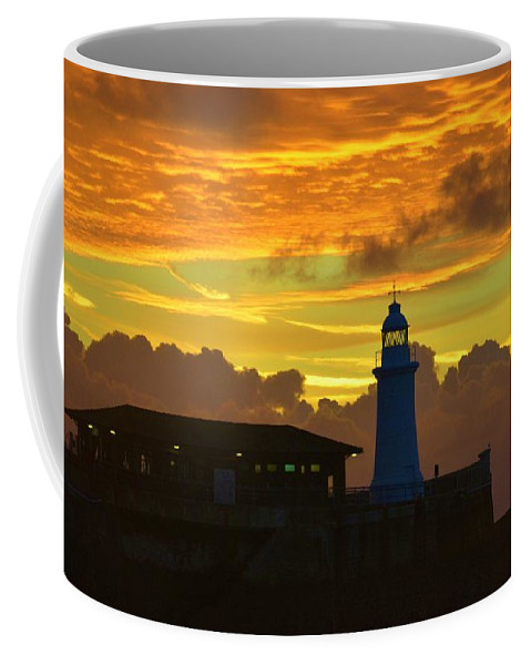 Sky Coffee Mug featuring the photograph Dawn Departure by Malcolm Snook