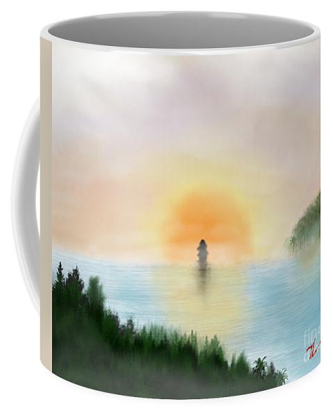 Sun Coffee Mug featuring the digital art Dawn Departure by Thomas OGrady