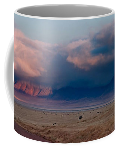 3scape Coffee Mug featuring the photograph Dawn In Ngorongoro Crater by Adam Romanowicz
