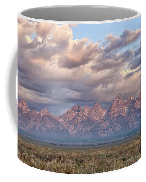 Grand Teton Coffee Mug featuring the photograph Dawn In The Grand Tetons by Sandra Bronstein