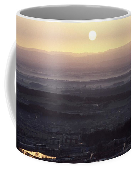 Landscape Coffee Mug featuring the photograph Dawn Over Belfort Town by Patrick Kessler