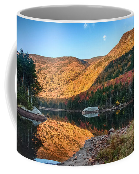 Autumn Coffee Mug featuring the photograph Dawn Over Kinsman Notch by Jeff Folger