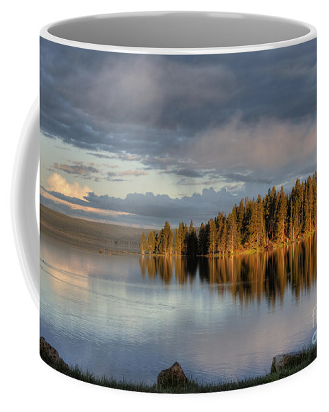 Hdr Coffee Mug featuring the photograph Dawn Reflections On Pelican Bay by Sandra Bronstein