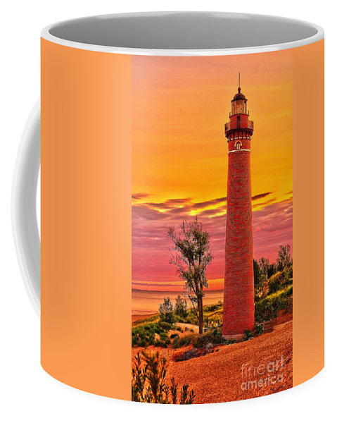 Sable Coffee Mug featuring the photograph Dawn's Light At Little Sable by Nick Zelinsky