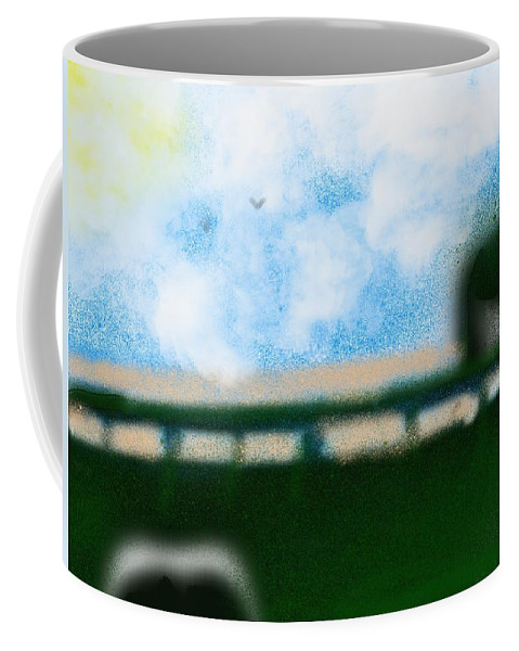 Truck Coffee Mug featuring the painting Day At The Beach by Bill Minkowitz