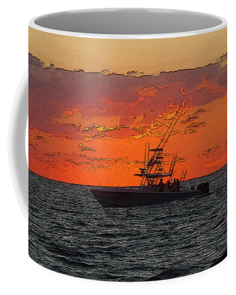 Sportfishing Coffee Mug featuring the photograph Day Break by Carey Chen