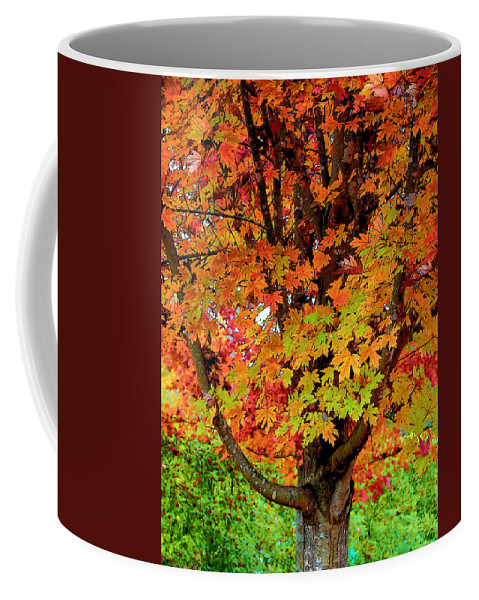Fine Art Coffee Mug featuring the photograph Day Glo Autumn by Rodney Lee Williams