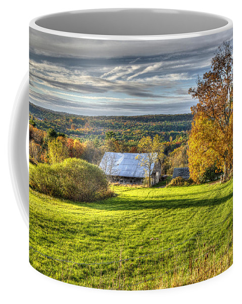 Autumn Coffee Mug featuring the photograph Day Is Done by Donna Doherty