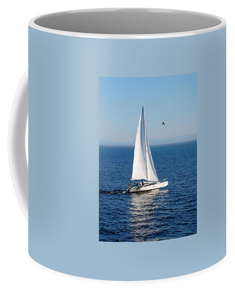 Scenic Coffee Mug featuring the photograph Day On The Bay by AJ Schibig