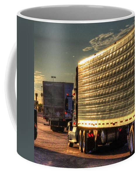 Daybreak Coffee Mug featuring the photograph Daybreak 34620 by Jerry Sodorff