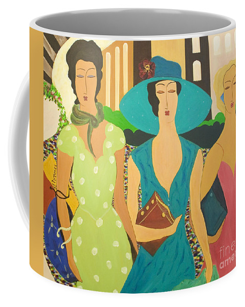 #fashion Coffee Mug featuring the painting Daybreak by Jacquelinemari
