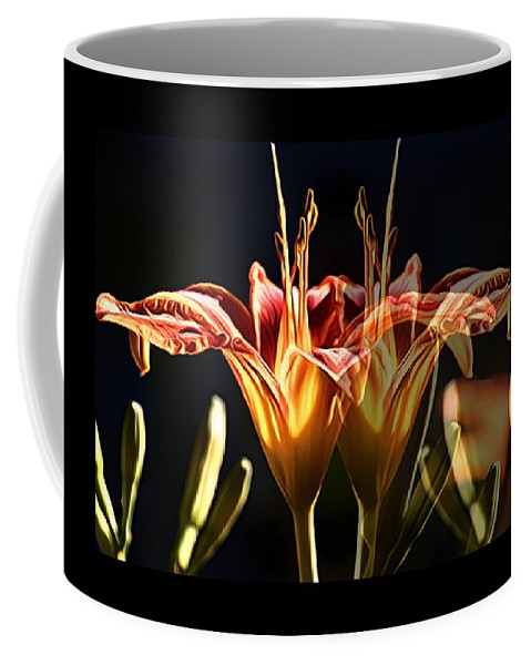 Daylily Coffee Mug featuring the photograph Daylily Doubled by Alice Gipson