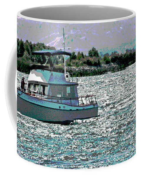 Sacramento River Delta Coffee Mug featuring the photograph Days End by Joseph Coulombe