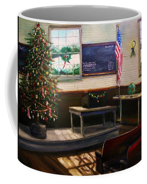 Oil Coffee Mug featuring the painting Days til Christmas by John Williams