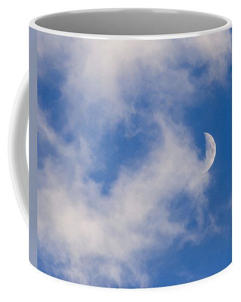 Day Coffee Mug featuring the photograph Daytime Moon by Carolyn Marshall
