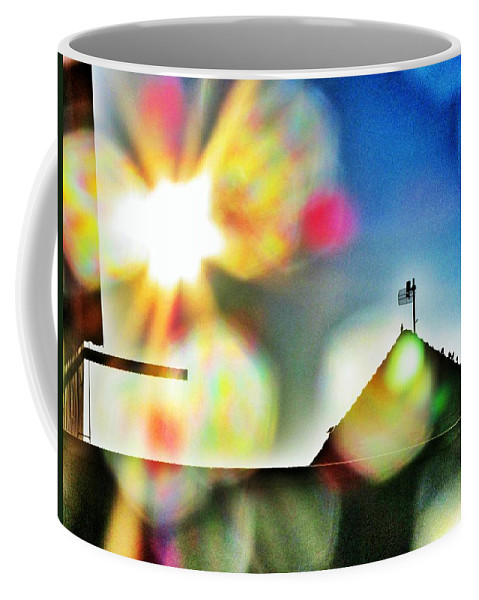 Dazzled By The Sun Coffee Mug featuring the photograph Dazzled By The Sun by Marianna Mills