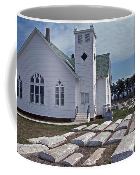 Maritime Coffee Mug featuring the photograph Deal Island Church by Skip Willits