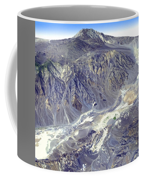 Death Valley From Outer Space Coffee Mug featuring the photograph Death Valley From Outer Space by Nasa Jpl
