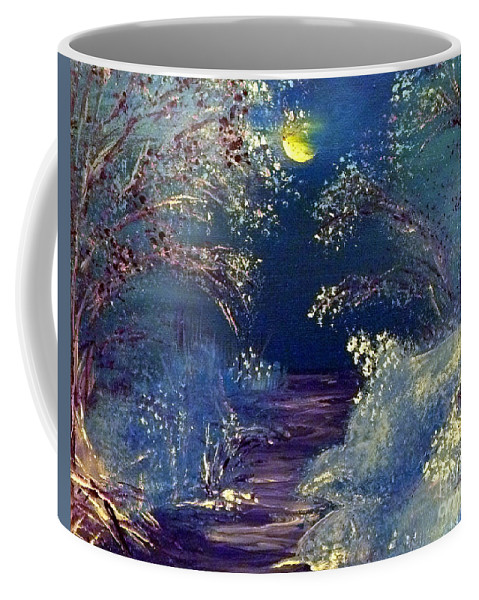 Winter Coffee Mug featuring the painting December Night by Alys Caviness-Gober