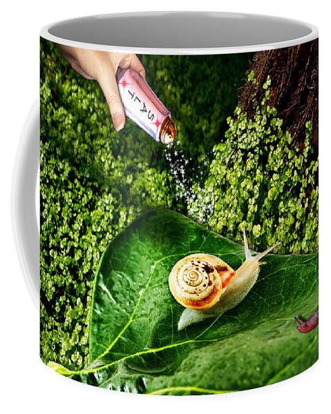 Paula Ayers Coffee Mug featuring the digital art Decisions No. 5 by Paula Ayers